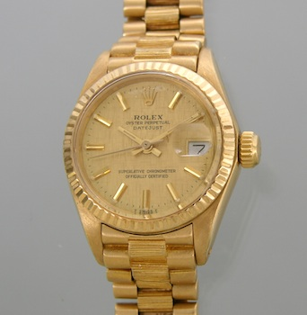 504. A Ladies' 18k Oyster Perpetual Datejust
