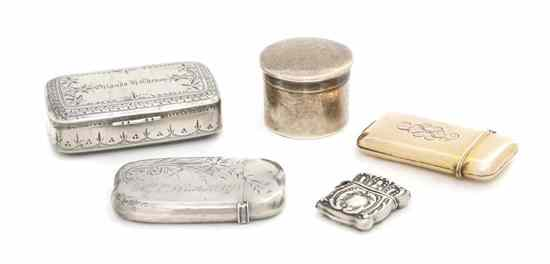 Four American Sterling Silver Articles of