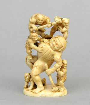 1058. A Large Ivory Carving of a Shoki and