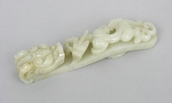 1151. A Carved Jade Dragon Ornamental Belt