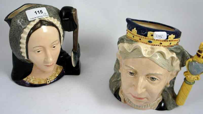 Royal Doulton Large Character Jugs Queen