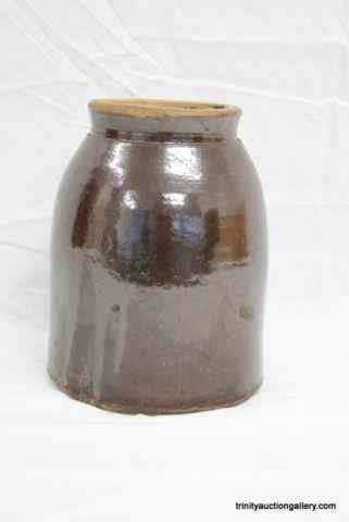 Antique Crock Pottery Half Gallon Canning