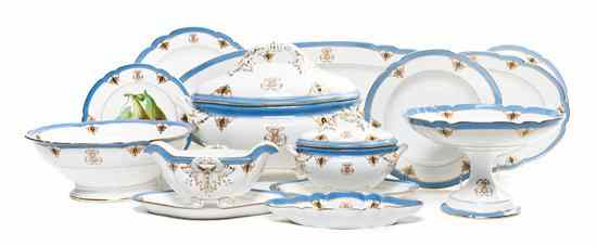 *A French Porcelain Partial Dinner Service