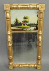 Price Guide For Sheraton Gilt Mirror Early 19th C 47 H