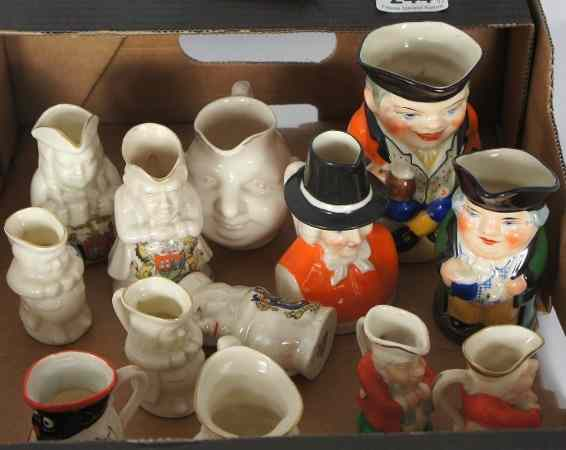 A good collection of miniature Toby Jugs