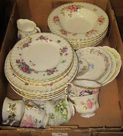 Tray to include Royal Doulton Brambly Hedge