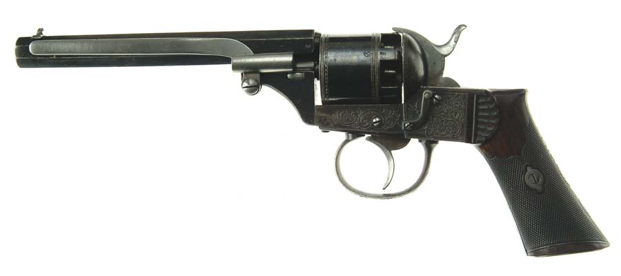 LARGE FRAME ENGRAVED BELGIAN REVOLVER WITH