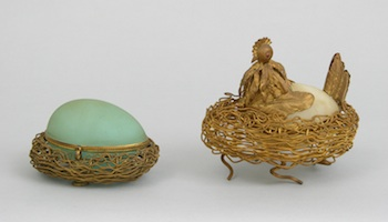 275. Two French Opaline Glass Eggs