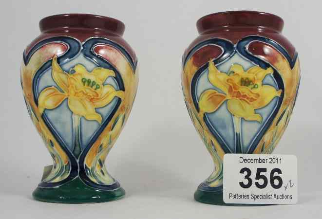 Price Guide For Pair Of Old Tupton Ware Vases With A Daffodil