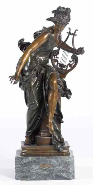 French Bronze Sculpture ''La Melodie''after