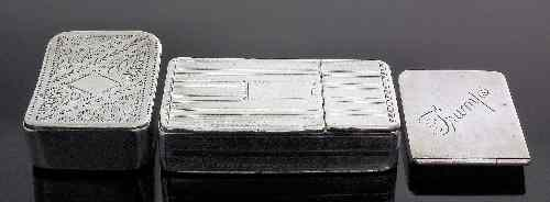 A Victorian silver rectangular combined snuff