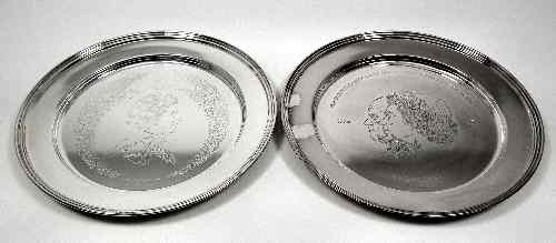 Two Elizabeth II silver dishes commemorating