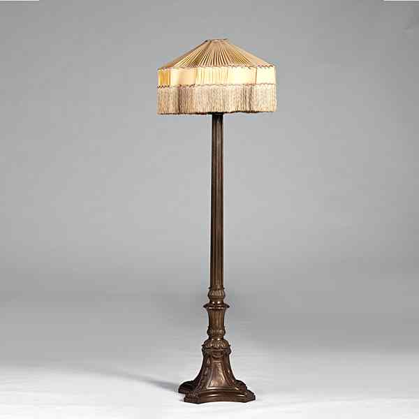 Tall Columnar Floor Lamp American late 19th/early