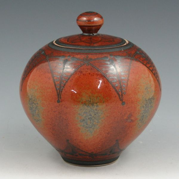 Mark Nafziger Stoneware Jar with Lid. Nafziger