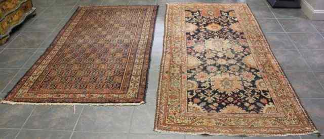 Two Antique Oriental Scatter Carpets.One