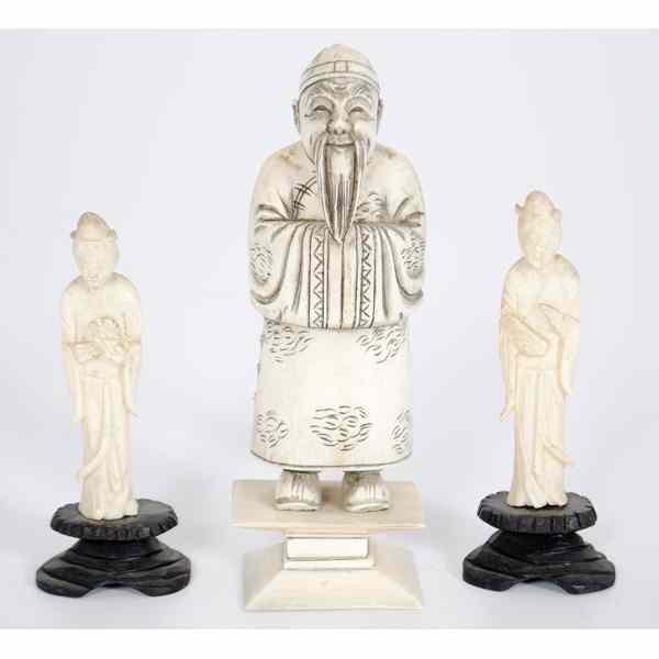 Chinese Carved Ivory Figures Plus Chinese.