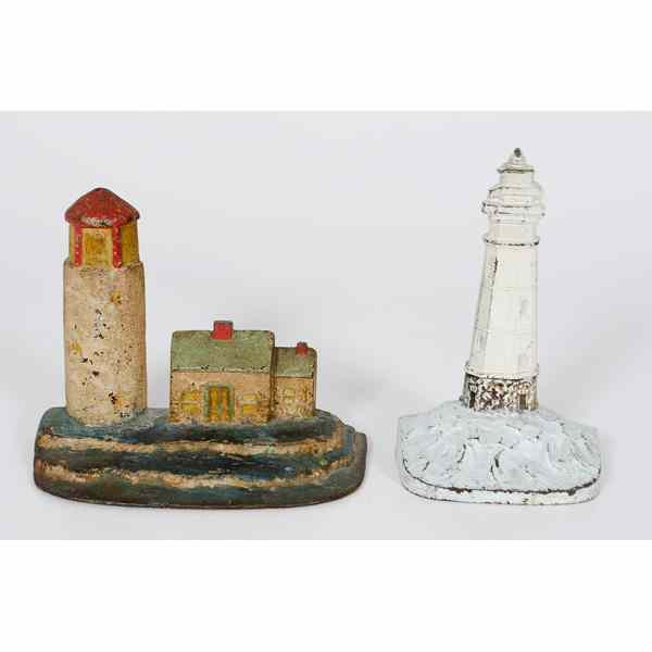 Light House Cast Iron Doorstops American