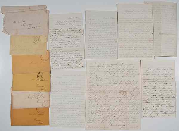 Civil War Archive of 3 Members of 25th Mass.