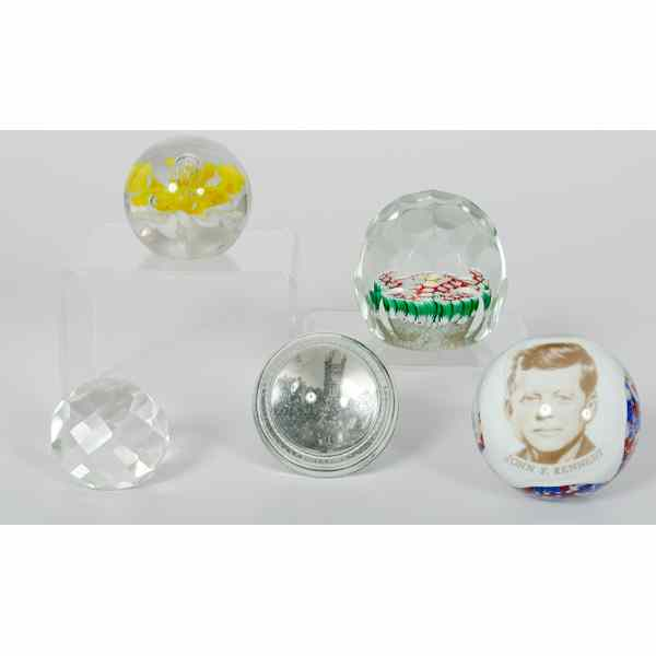 Glass Paperweights An assembled group of