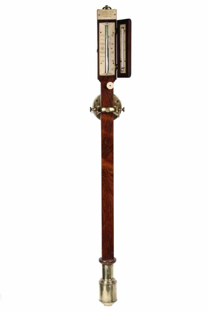 ENGLISH STICK BAROMETER - Early 19th c Rosewood