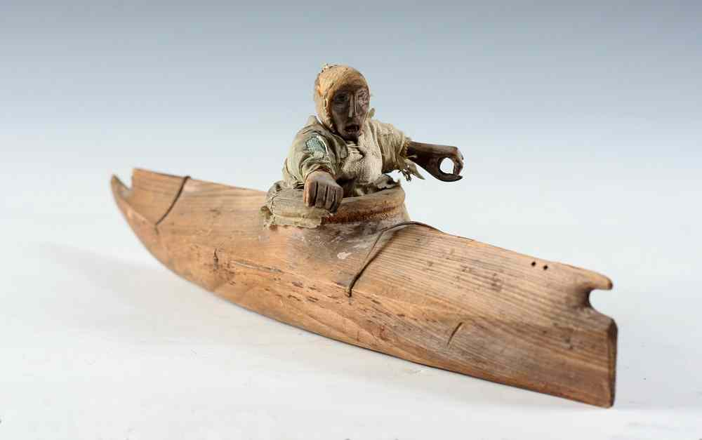 NATIVE AMERICAN TOY KAYAK - Inuit Northern