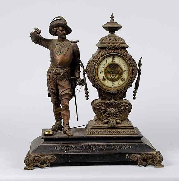 Ansonia Figural Mantle Clock Continental