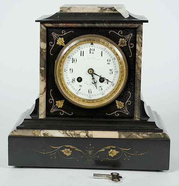 Japy Freres Duhme Mantle Clock French ca