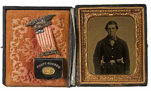 15th Corps Veteran Sixth Plate Tintype with