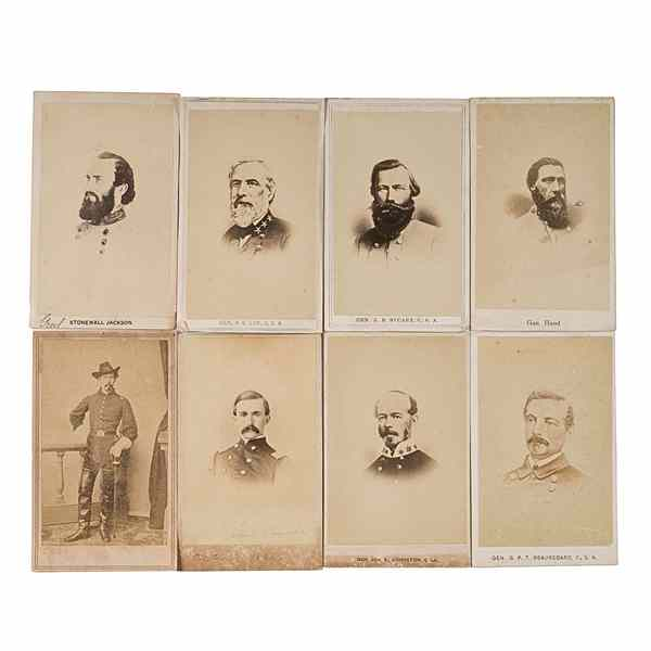 Family CDV Album with Confederate Generals