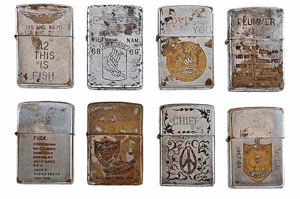 Vietnam Zippo Lighter Collection Lot of 282