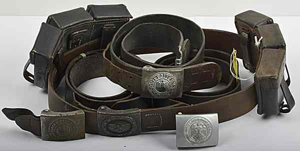 Price guide for German WWII MIlitary Belts and Buckles Lot