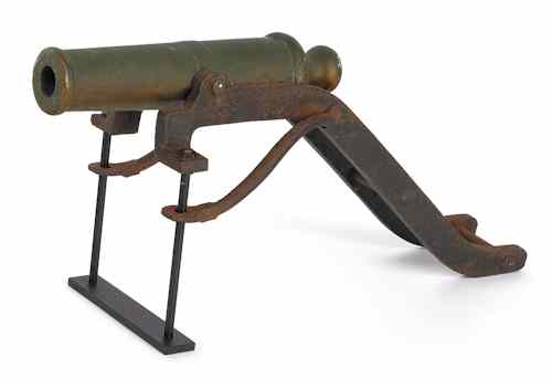 Price guide for Bronze and wrought iron nautical signal cannon