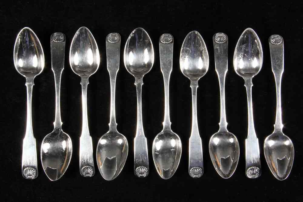 (10) AMERICAN SILVER TEASPOONS - Set of Ten