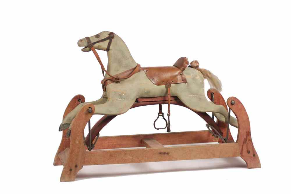 PLATFORM ROCKING HORSE - Late 19th c Folk