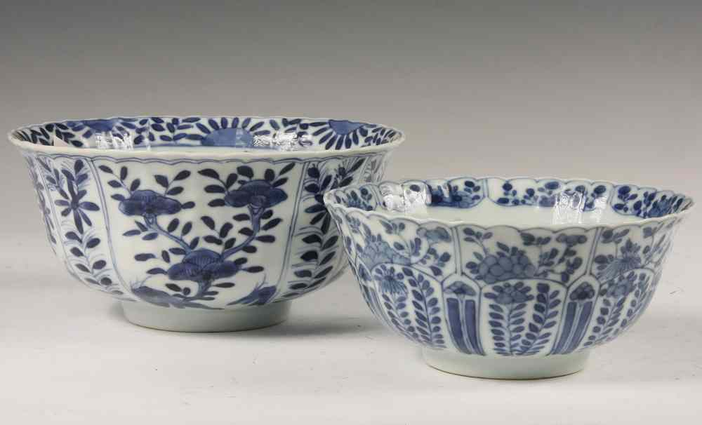 (2) SIMILAR CHINESE EXPORT BOWLS - Two 18th