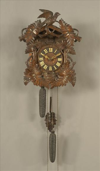 A Black Forest weight-driven cuckoo clock
