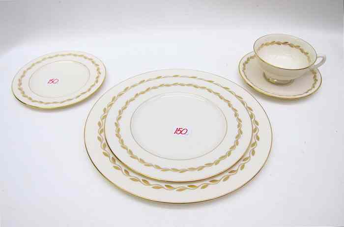 SIXTY-FOUR PIECE LENOX CHINA SET in n the