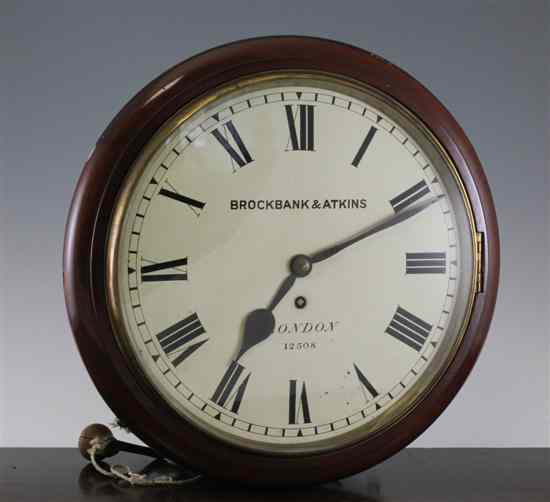 A Victorian mahogany wall timepiece with