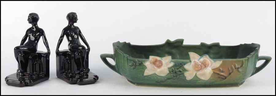 ROSEVILLE POTTERY CONSOLE BOWL IN THE MAGNOLIA