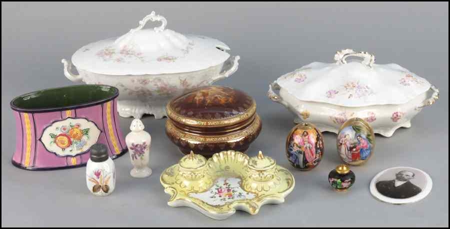 GROUP OF CONTINENTAL PORCELAIN DECORATIVE