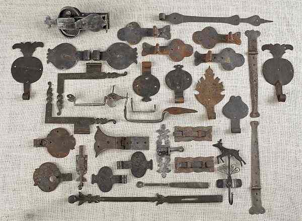 Collection of wrought iron hardware 19th
