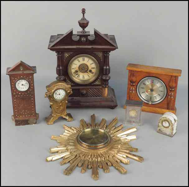 H.A.C. GERMAN 14 DAY MANTLE CLOCK. Together