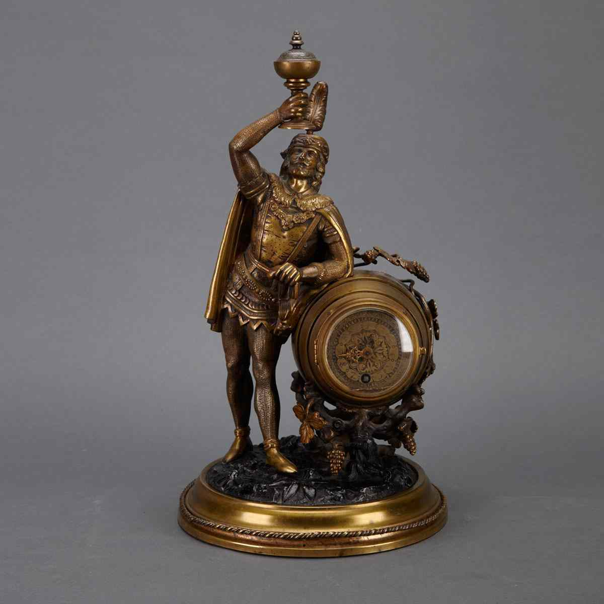 French Gilt Bronze and Lacquered Metal Figural