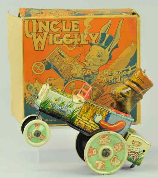 UNCLE WIGGLY CAR Louis Marx lithographed