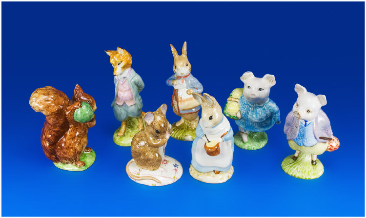 Seven Beatrix Potter Figures. Comprising: