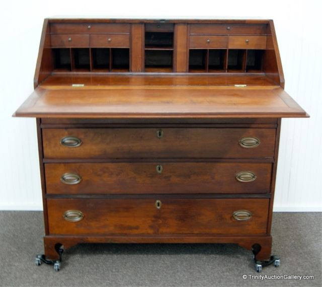 Antique c.1860's Mahogany Secretary Desk