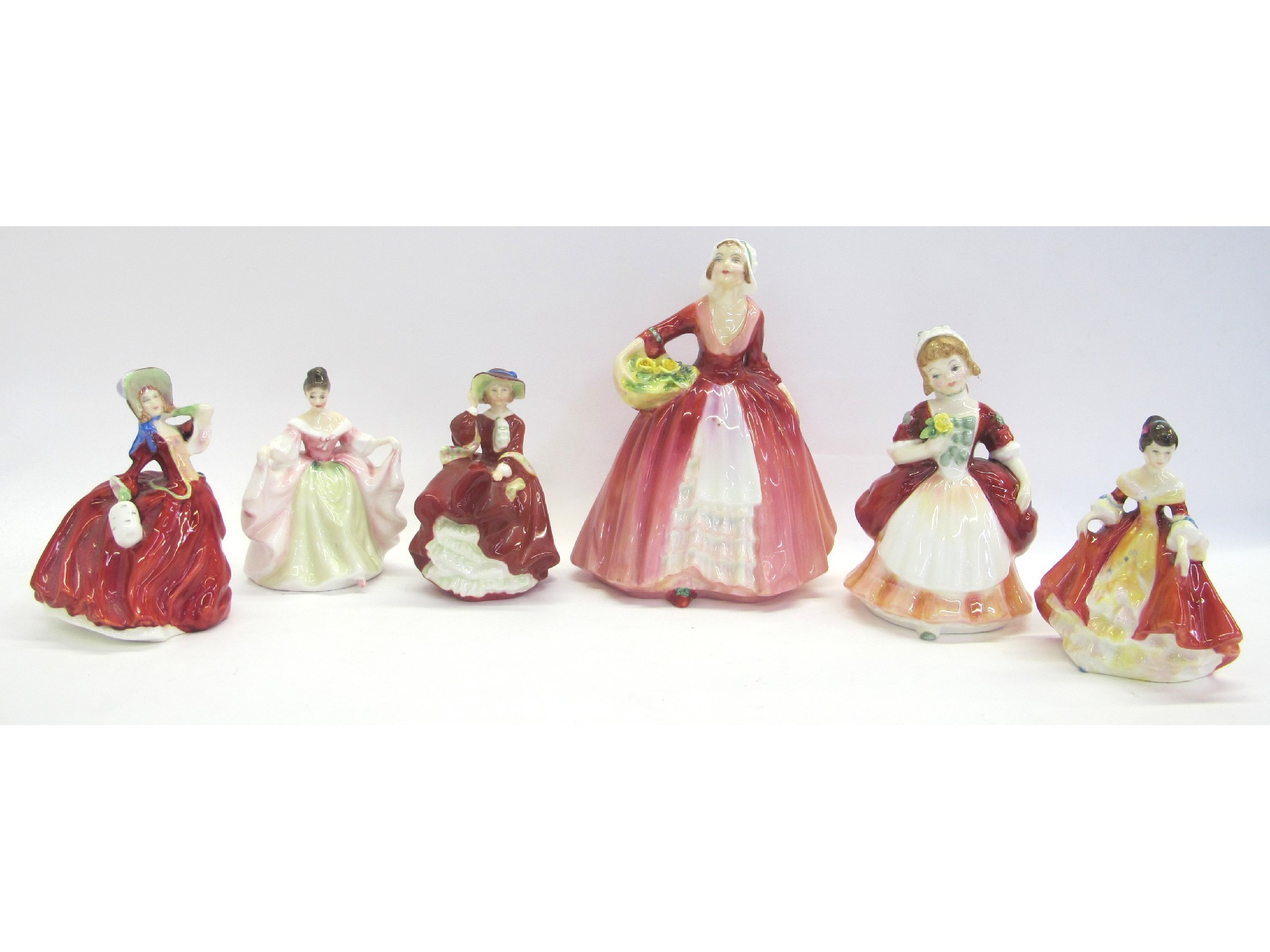 "Six Royal Doulton figures marked ""Top o'"