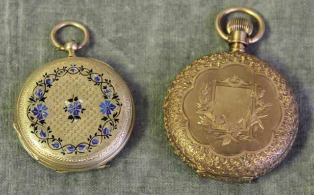 JEWELRY. 2 14kt Ladies Pocket Watches.Includes
