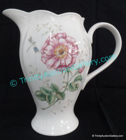 Lenox China Tall Handled Pitcher Luyer Designed 64