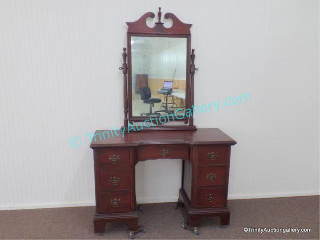 Antique Mahogany Vanity w/ Mirror With 7 - Price Guide For Antique Mahogany Vanity W/ Mirror With 7